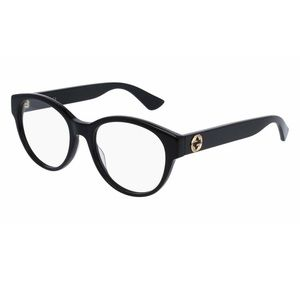 Gucci GG 0039O c.001 Black Gold Round Eyeglasses